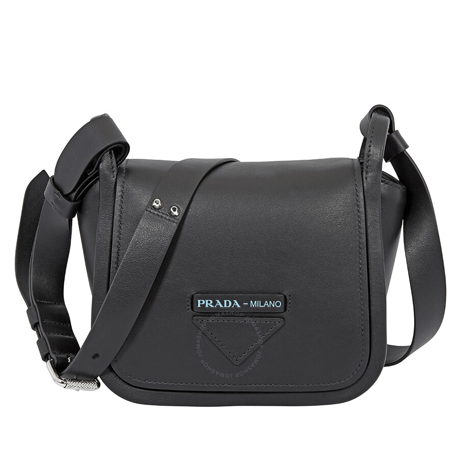 fd74089078fb Prada Concept Medium Leather Crossbody- Black Item No.  1BD132_F0002_2BYA_V_OKO