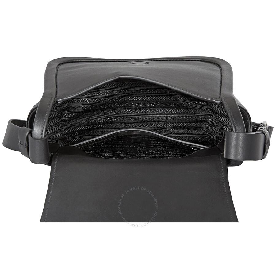 af7ab14867fc92 Prada Concept Medium Leather Crossbody- Black - Prada - Handbags ...
