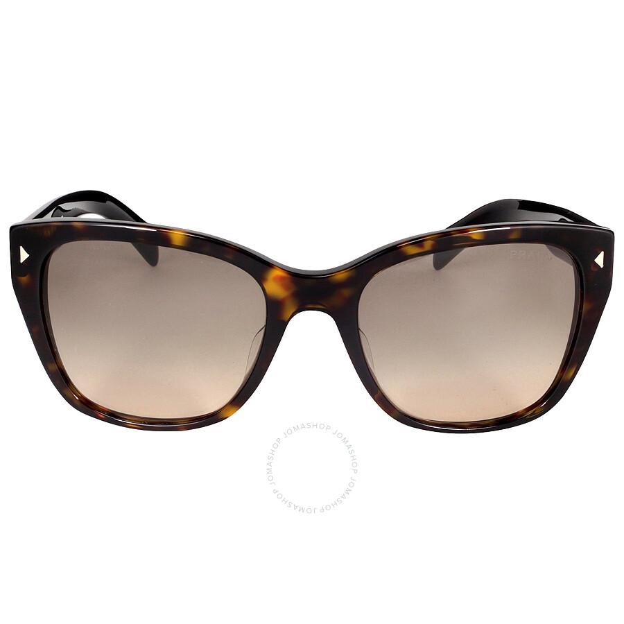 93af603861 Prada Conceptual Lettering Logo Havana light Brown Sunglasses PR  09SSF-2AU3D0-56 ...