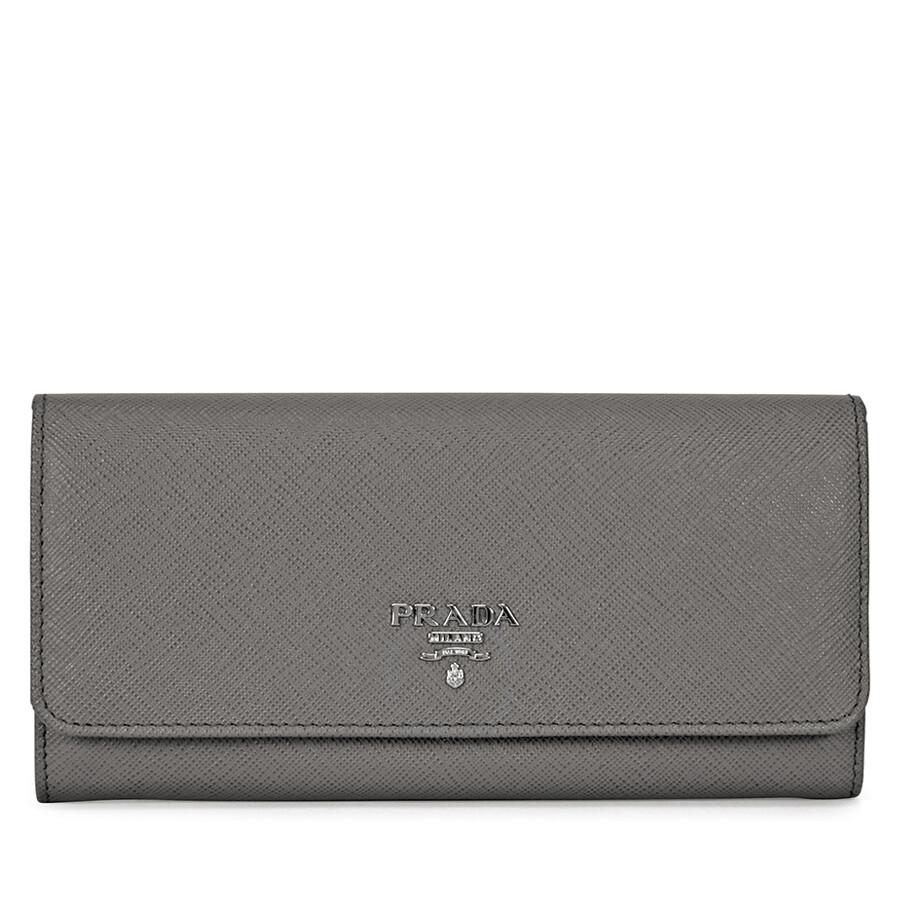 e0edaadc3b6bf5 Prada Continental Saffiano Leather Wallet - Marmo Item No. 1MH132QWAF0K44