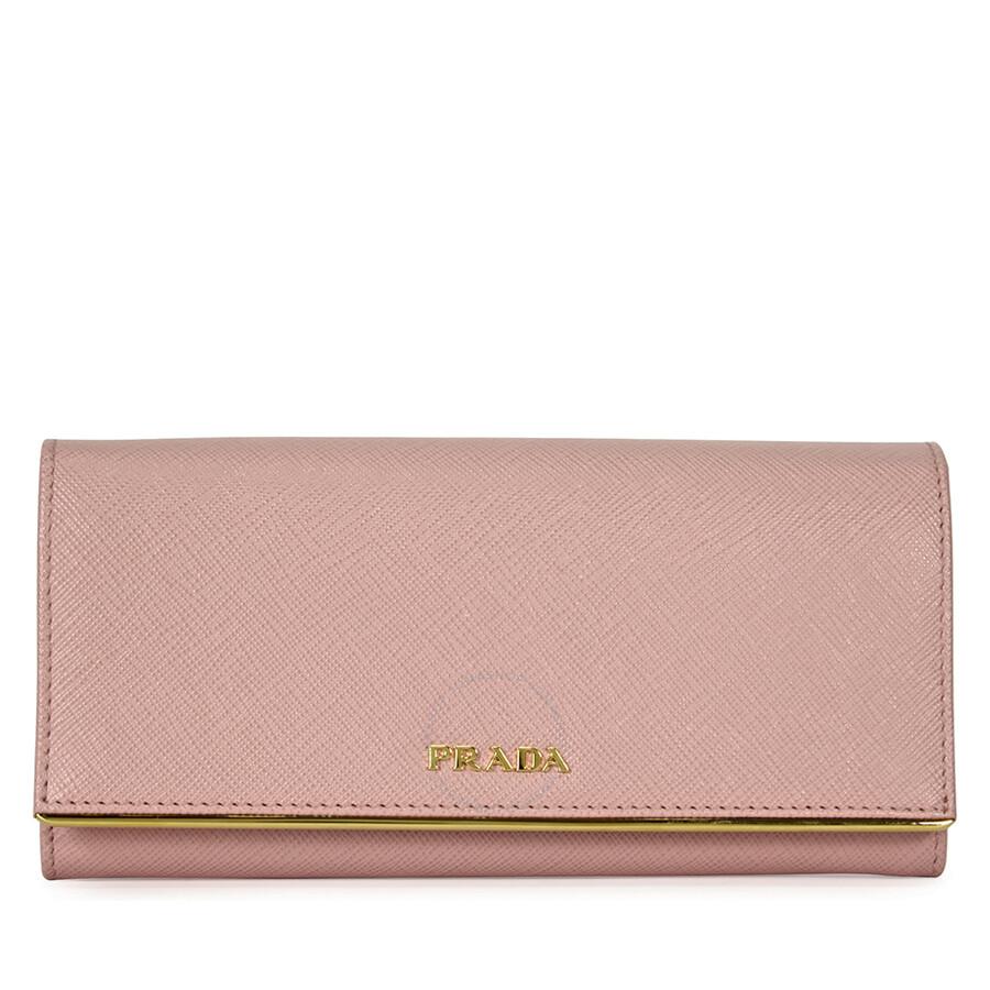 8a671dbfd00a Prada Continental Saffiano Leather Wallet - Orchidea Item No. 1MH132QMEF0615