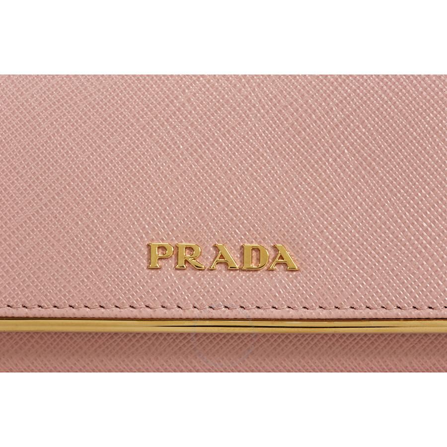 1616396bcb10 Prada Continental Saffiano Leather Wallet - Orchidea - Prada ...