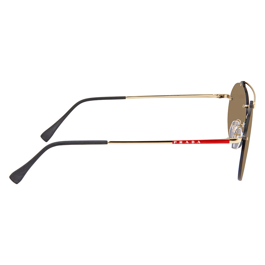 5121c0c2d4 Prada Dark Grey Mirror Gold Oval Sunglasses PR PS56TS ZVN4L0 55 ...