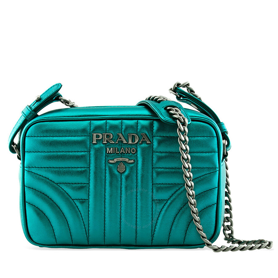 143b22f19a Prada Diagramme Laminated Nappa Leather Crossbody Bag Item No.  1BH084 2B0X F0CSR