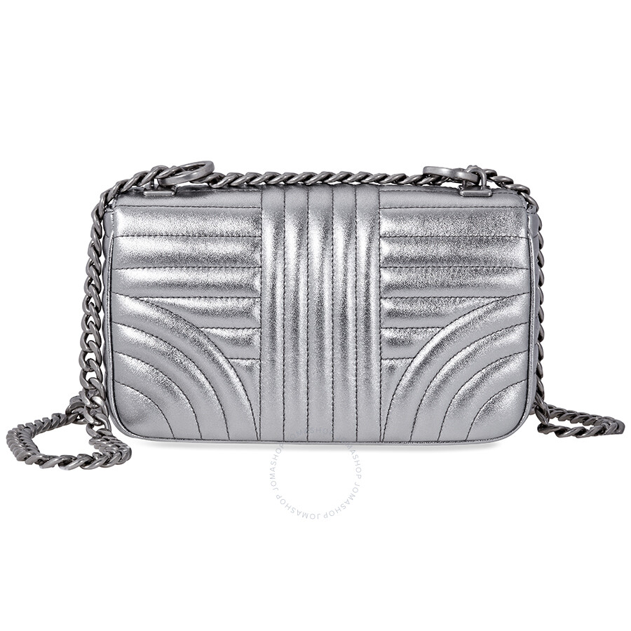 66f69b2e9730 Prada Diagramme Leather Shoulder Bag-Silver - Prada - Handbags ...