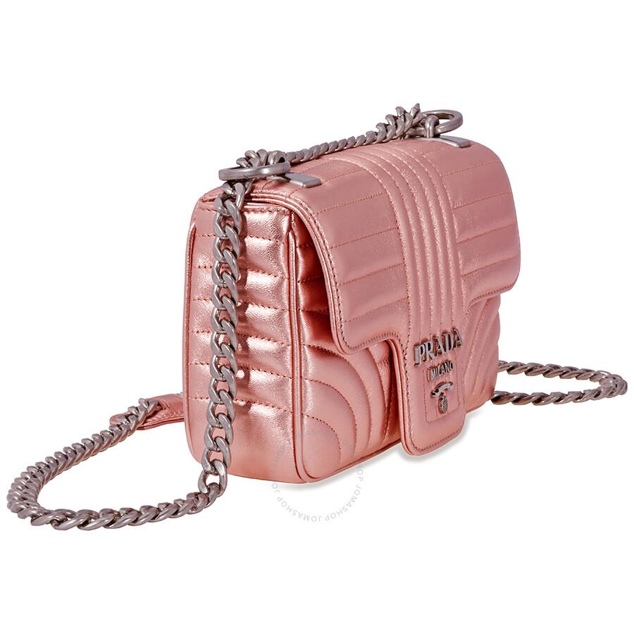 Prada Diagramme Leather Shoulder-Pink - Prada - Handbags - Jomashop f27953c5a004d