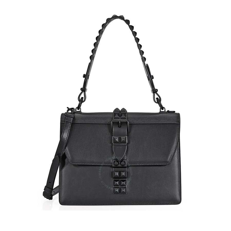 882dcce57c Prada Elektra Studded Leather Shoulder Bag- Black Item No.  1BA179 2BB0 F0632 V OBH