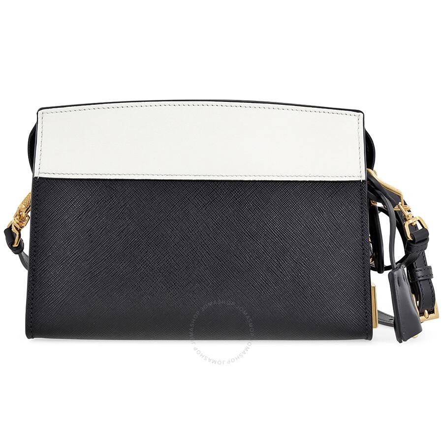 79123000a8 Prada Esplanade Shoulder Bag - Black and White - Esplanade - Prada ...