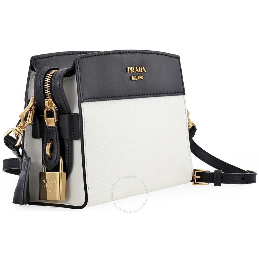 453f66beb65a Prada Esplanade Shoulder Bag - White and Black - Esplanade - Prada ...
