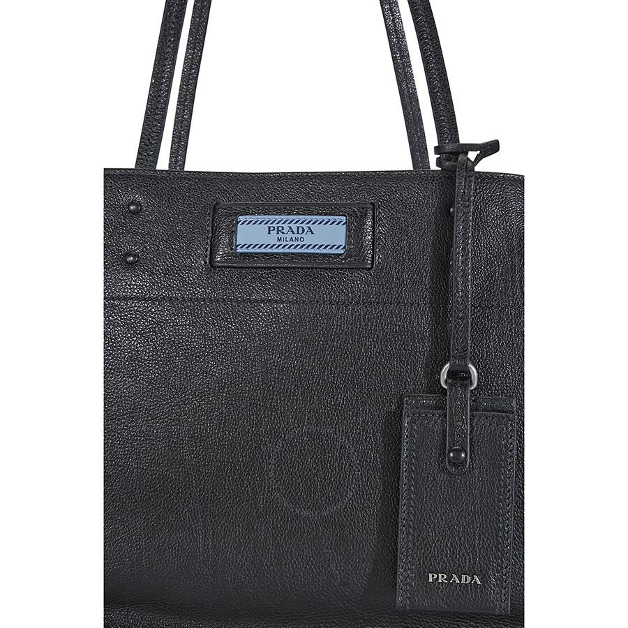 7e66763cf3b7 Prada Etiquette Medium Shoulder Bag- Black/Blue - Prada - Handbags ...