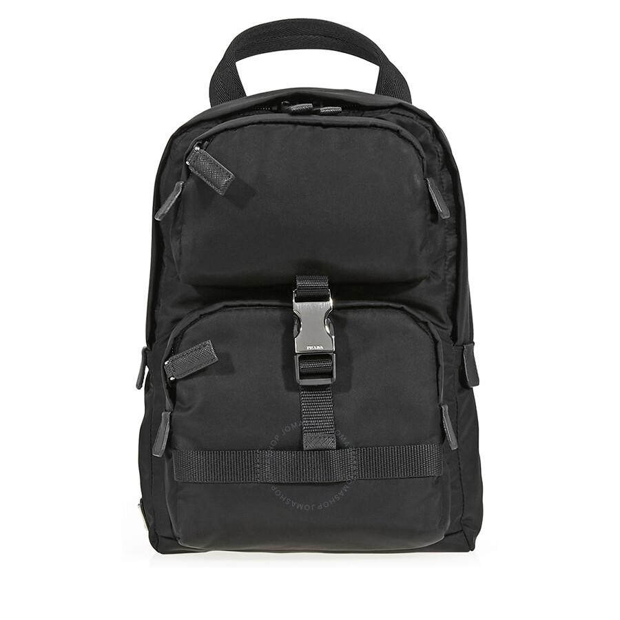 28fe0d0f39d7 Prada Fabric Backpack- Black Item No. 2VZ013_973_F0002_V_OOO