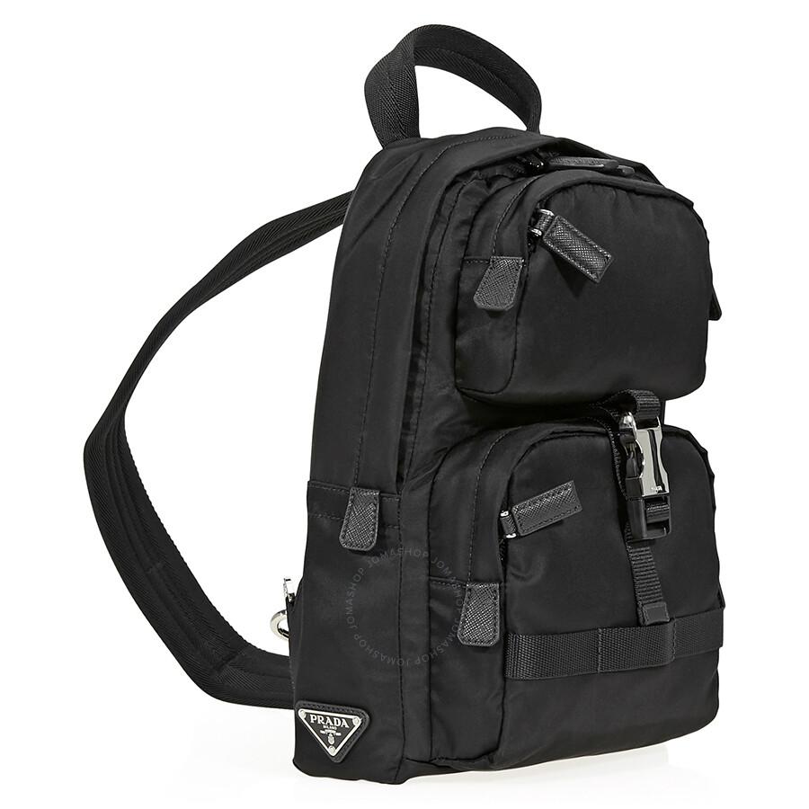 438b36e92417 Prada Fabric Backpack- Black - Jomashop