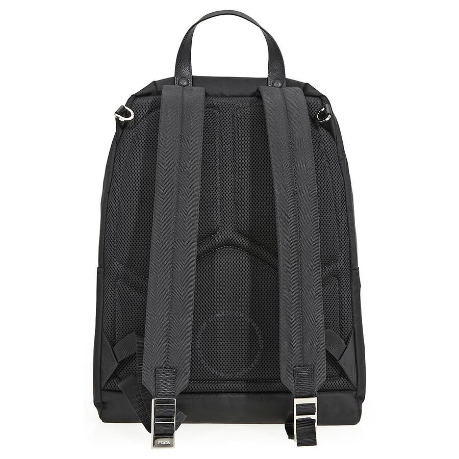 1dcd9daa04af Prada Fabric Backpack- Black - Prada - Handbags - Jomashop