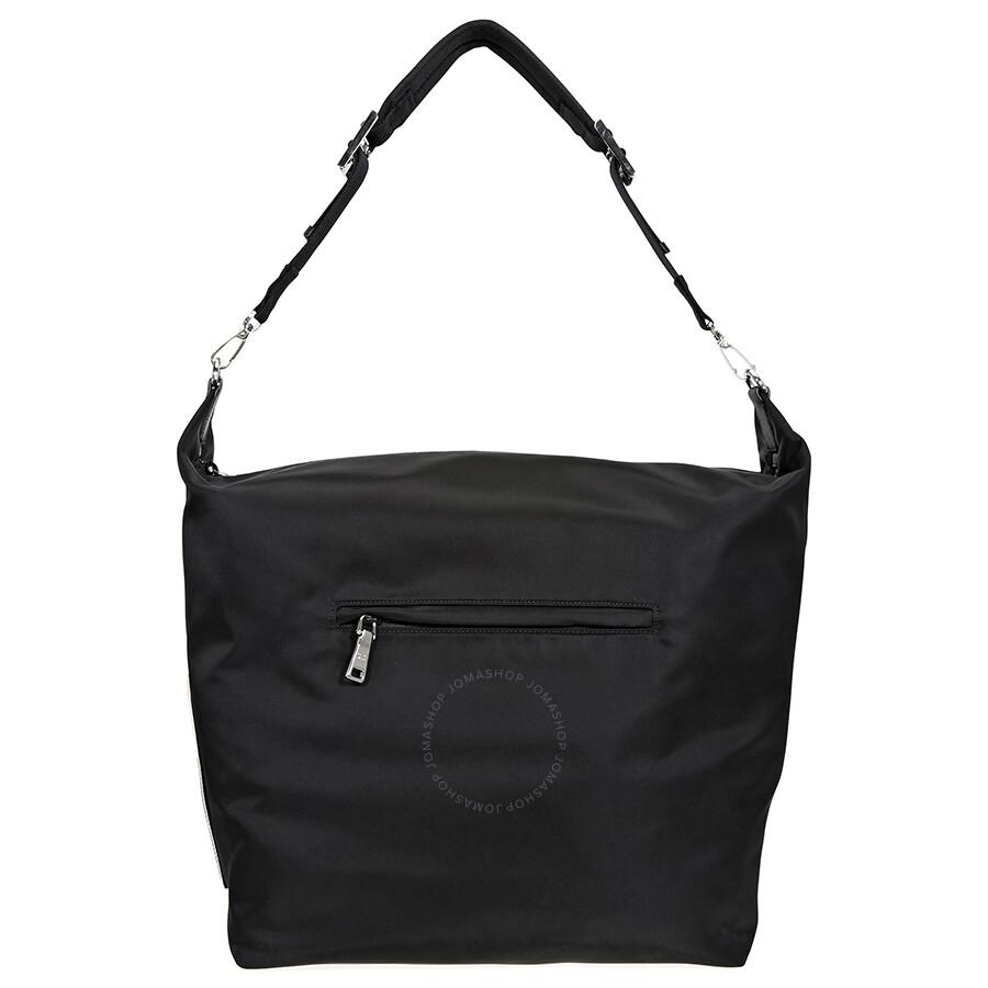 478dac749dfdaf ... france prada fabric hobo bag black 37488 68fa9