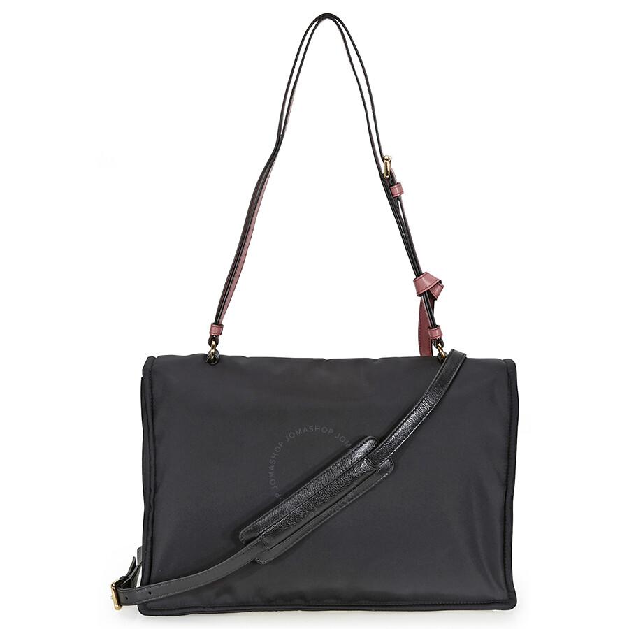 d6efdb20c9df3 Prada Fabric Shoulder Bag - Black and Pink - Prada - Handbags - Jomashop