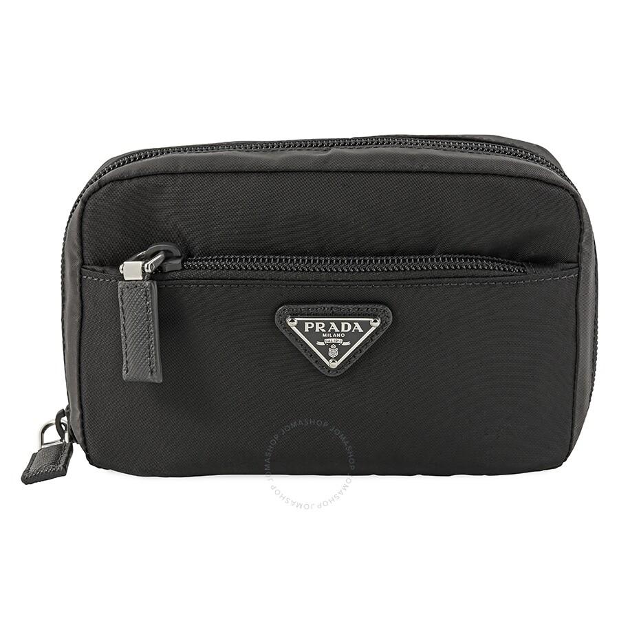 dabb2e0b052a Prada Fabric Travel Pouch- Black - Prada - Handbags - Jomashop