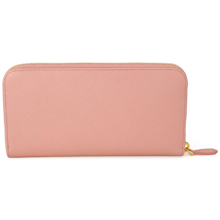 a36c280543cb Prada Fiocco Saffiano Leather Continental Wallet - Orchidea Item No.  1ML506-ZTM-F0615