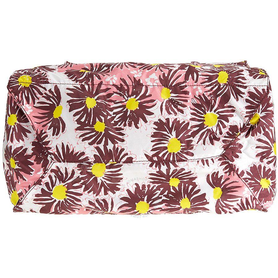 44b1b64c46df Prada Floral Nylon Tote - Bordeaux Margherita - Prada - Handbags ...