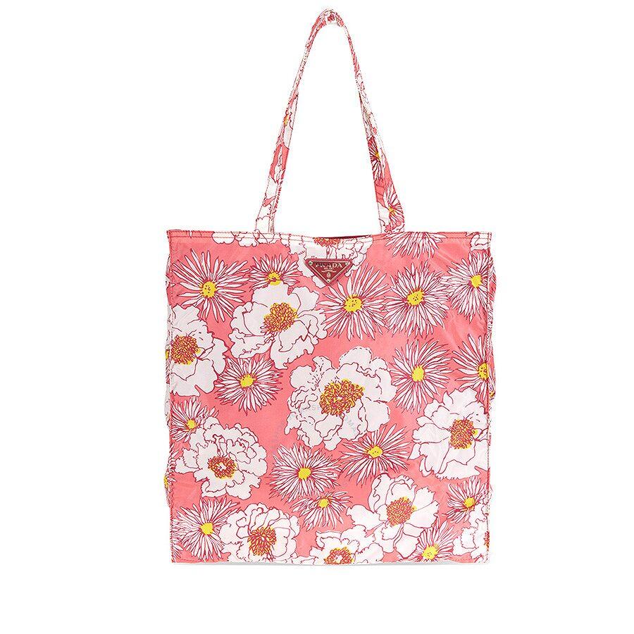 5731ae57a088 Prada Floral Nylon Tote - Rosa Dis Fio - Prada - Handbags - Jomashop