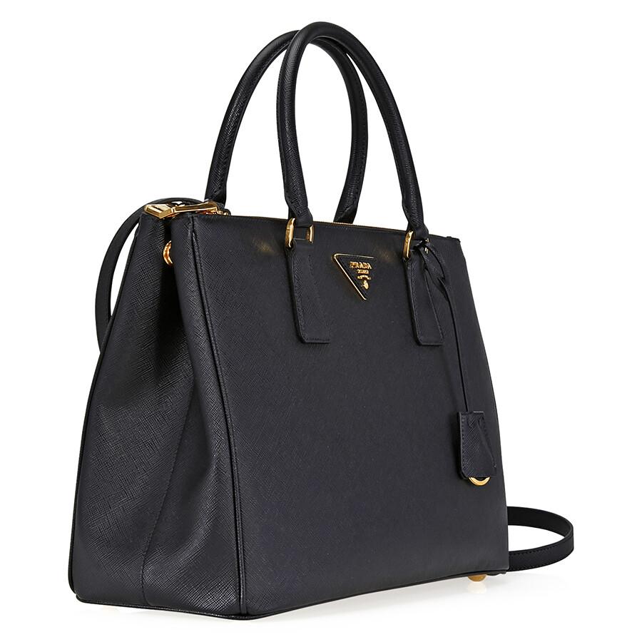 Prada Galleria Saffiano Leather Handbag Black
