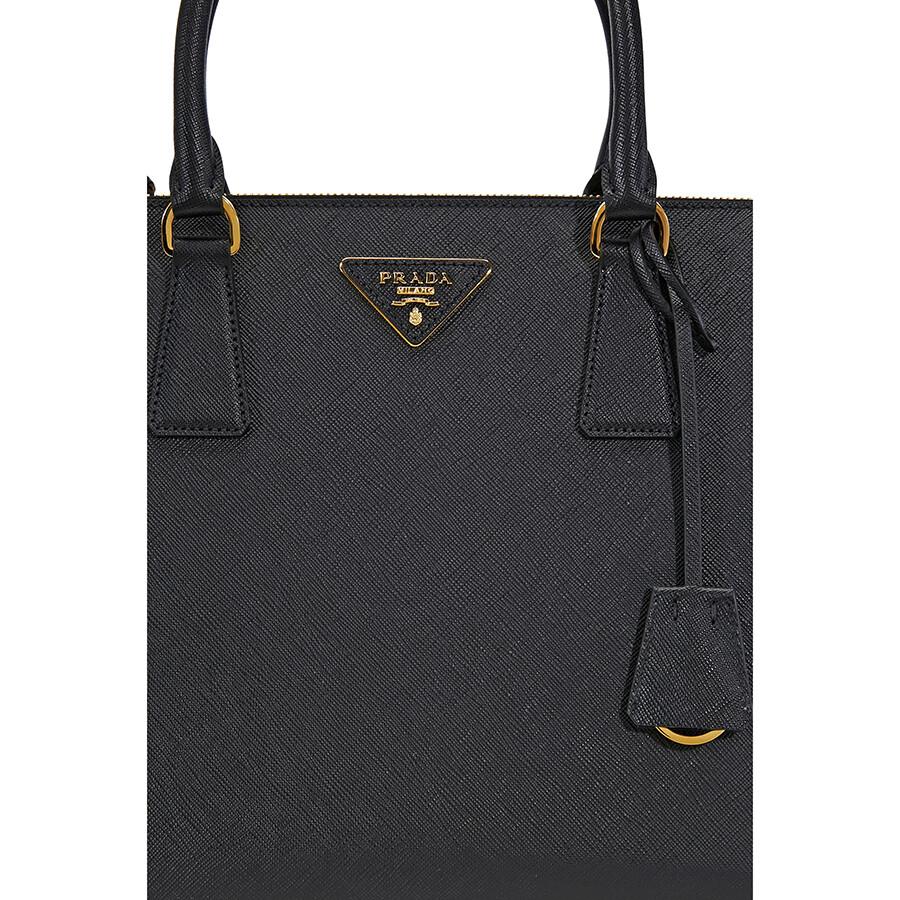 Prada Galleria Saffiano Leather Handbag - Black - Galleria - Prada ... 81586ffd886c1