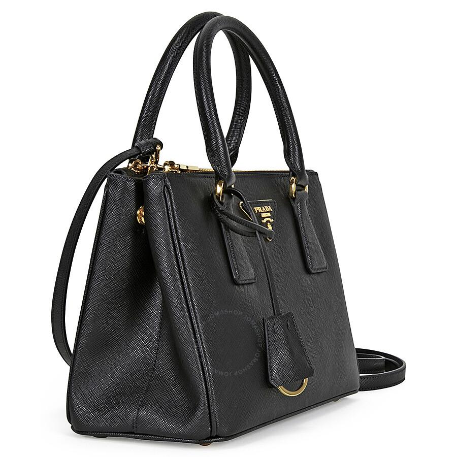 Prada Galleria Saffiano Leather Tote Black