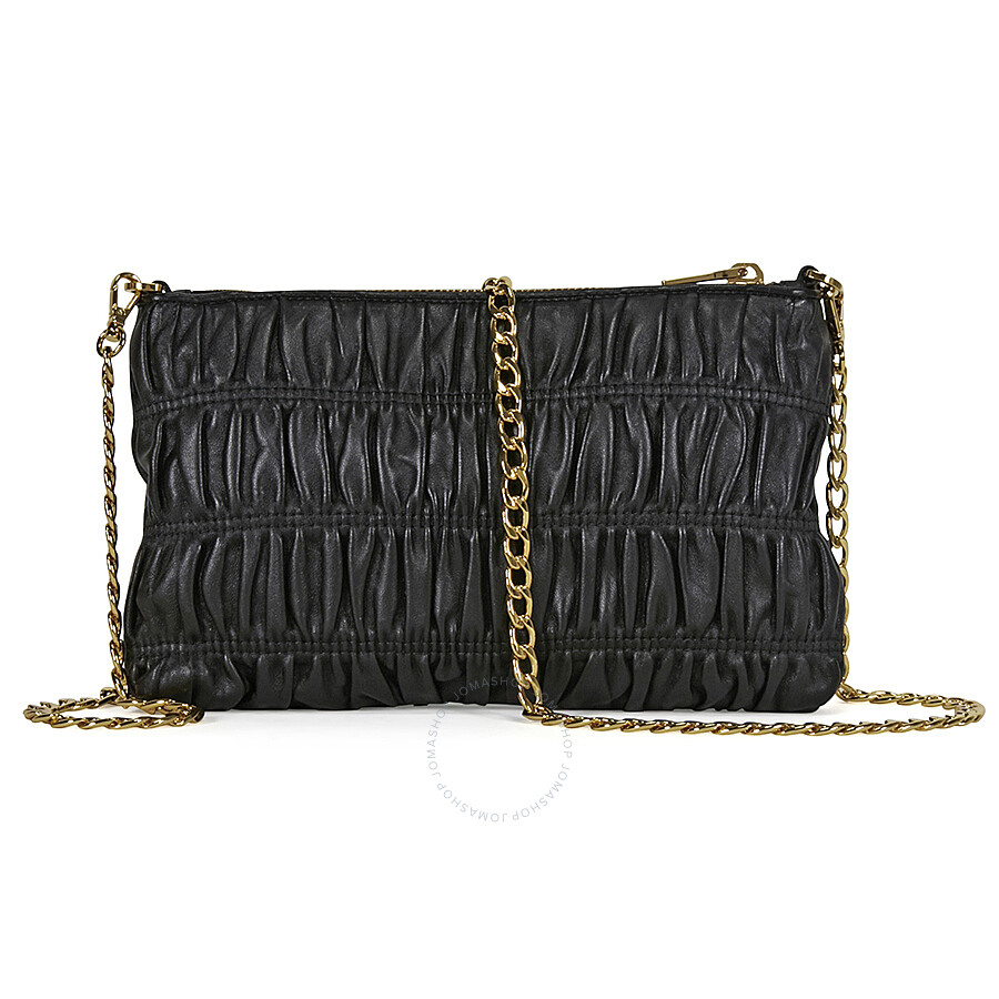 cf5782f2ec89 Prada Gaufre Nappa Leather Shoulder Bag - Black - Prada - Handbags ...