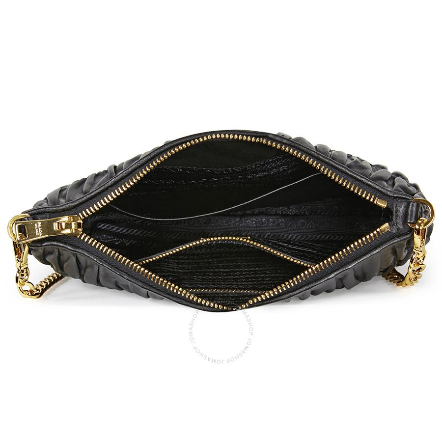 Prada Gaufre Nappa Leather Shoulder Bag - Black - Prada - Handbags ... e6cad2228b