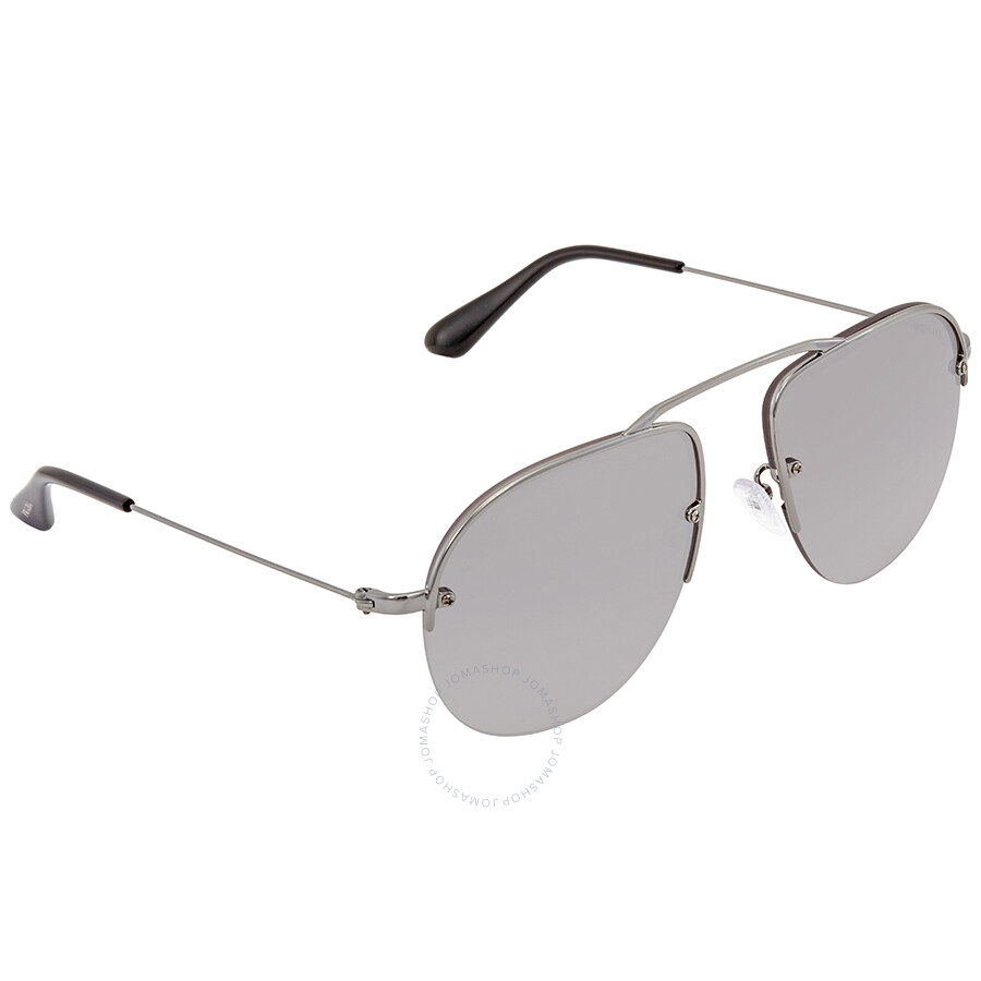 c32f95453068c Prada Gradient Grey Mirror Silver Aviator Men s Sunglasses PR 58OS 5AV6T2  55 ...