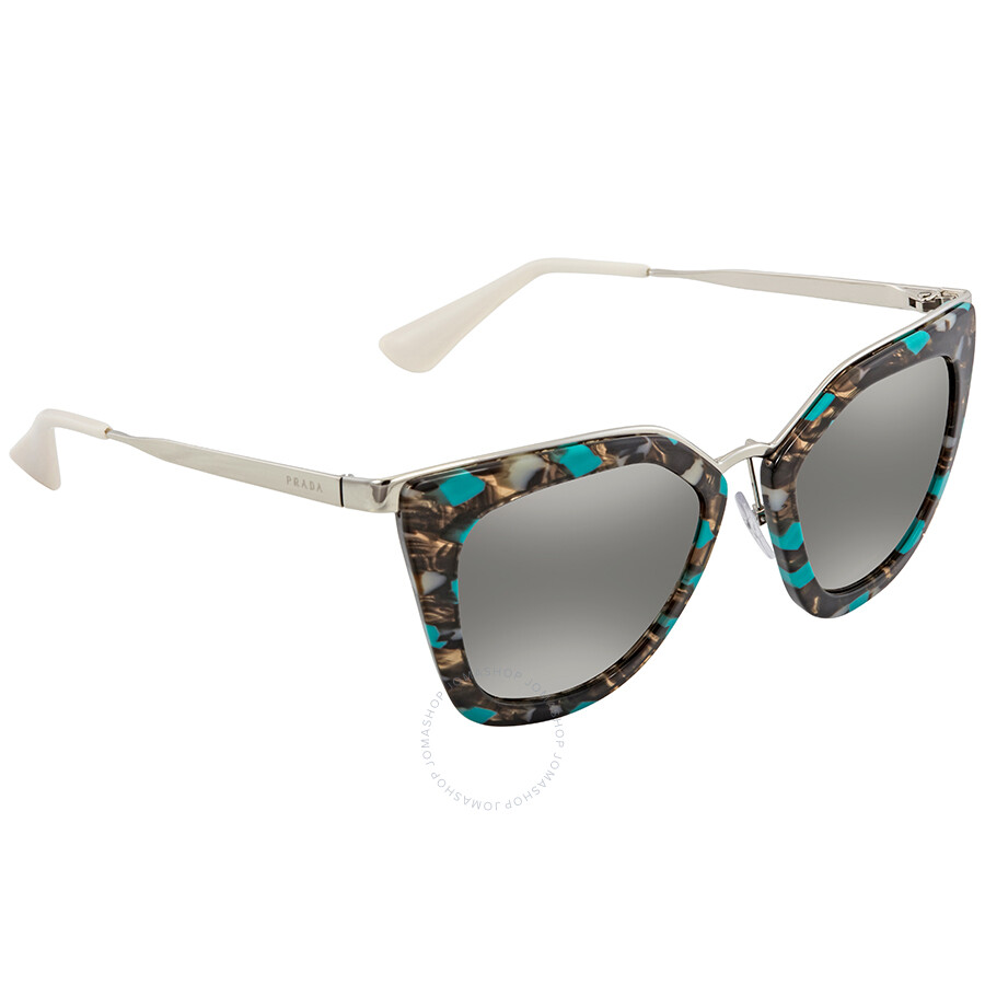 bbf91de636 Prada Gradient Grey Mirror Silver Cat Eye Ladies Sunglasses PR 53SS KJJ5O0  ...