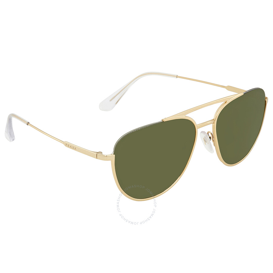 0345d1cf5cf4 Prada Green Aviator Sunglasses PR 50US 5AK1I0 56 Item No. PR 50US 5AK1I0 56