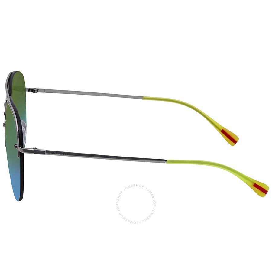 c1778598f0e0 ... Prada Green Mirror Blue Grad Green Aviator Men s Sunglasses  PS53SS-5AV6U2-59