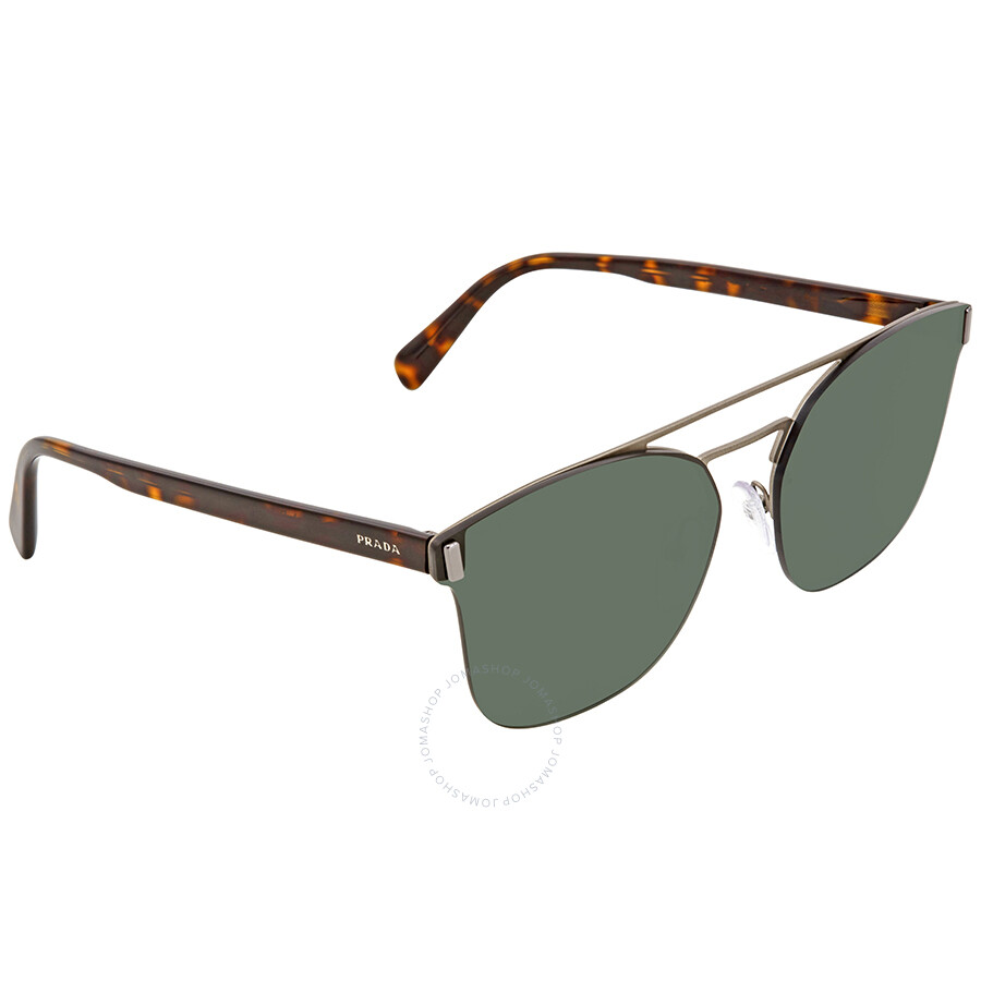 1df0485fa4ba Prada Green Square Men's Sunglasses PR 67TS VIX3O1 63 - Prada ...