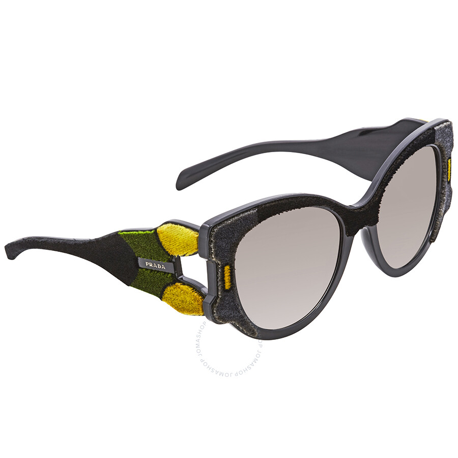 1d496fa2fe Prada Grey Gradient Cat Eye Sunglasses PR 10US 32V0A7 54 - Prada ...