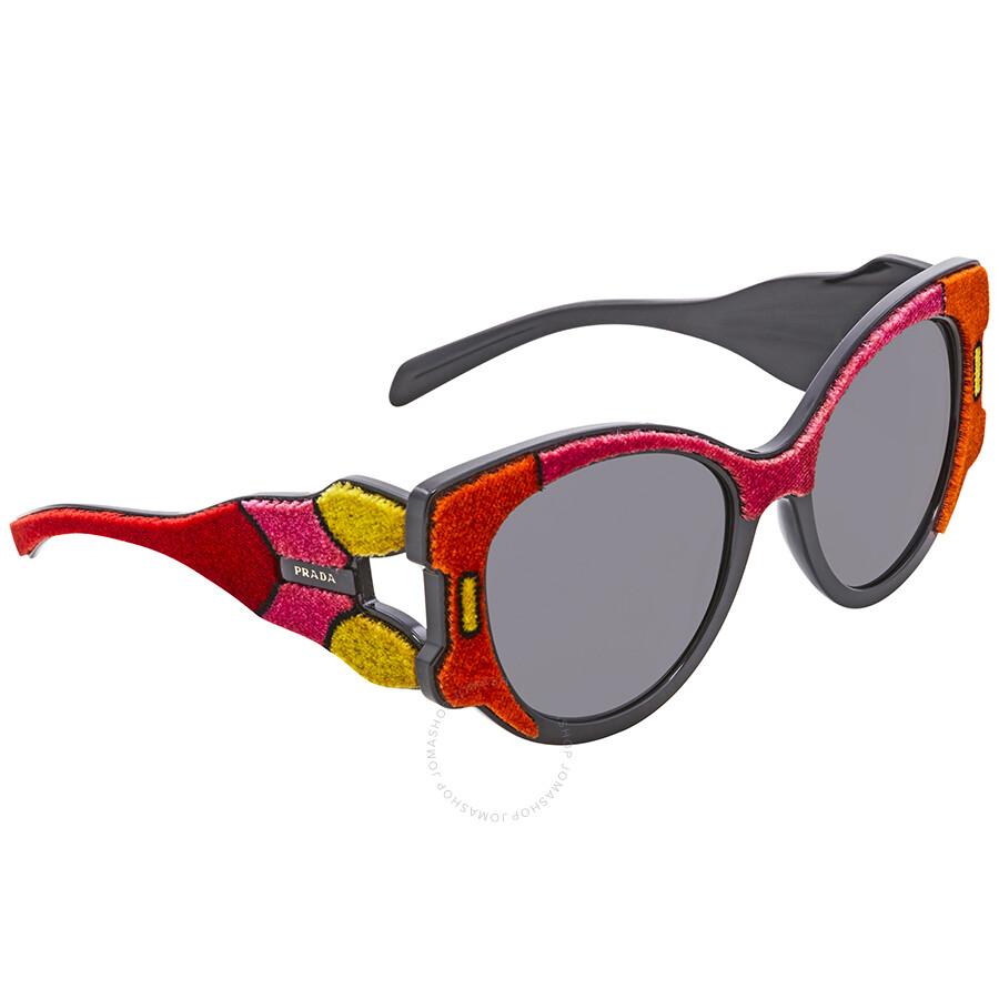 79ed97933d Prada Grey Lens Butterfly Sunglasses PR 10US C0J5S0 54 - Prada ...