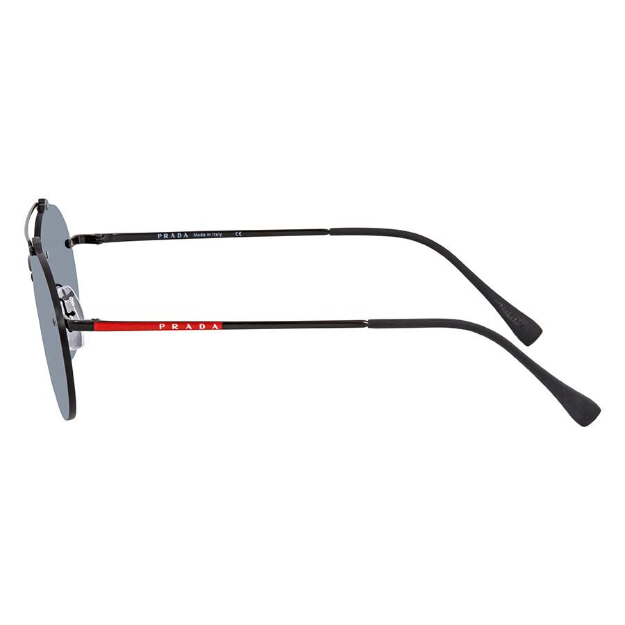 5316ac4f9212 ... Prada Grey Mirror Black Round Men's Sunglasses PR PS56TS 1AB5L0 55