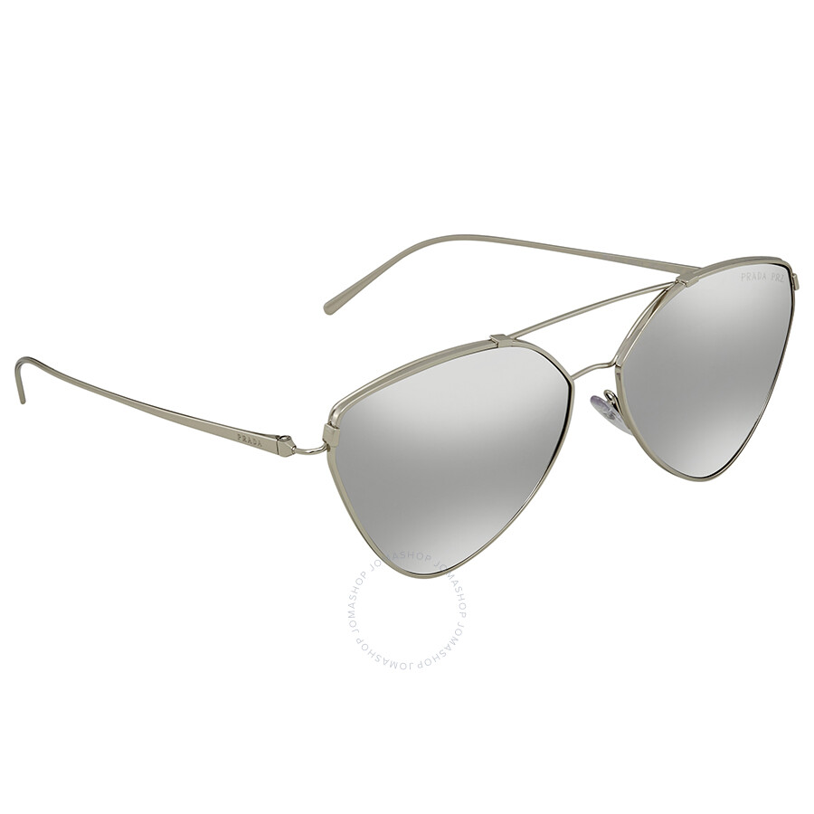 743470628cddd Prada Grey Mirror Cat Eye Sunglasses PR 51US 1BC097 62 - Prada ...