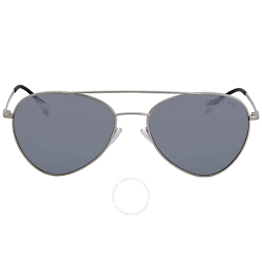 6ff2c6d7e3 ... Prada Polarized Grey Mirror Gradient Silver 57 mm Aviator Sunglasses PS  50SS 1AP2F2 57 ...