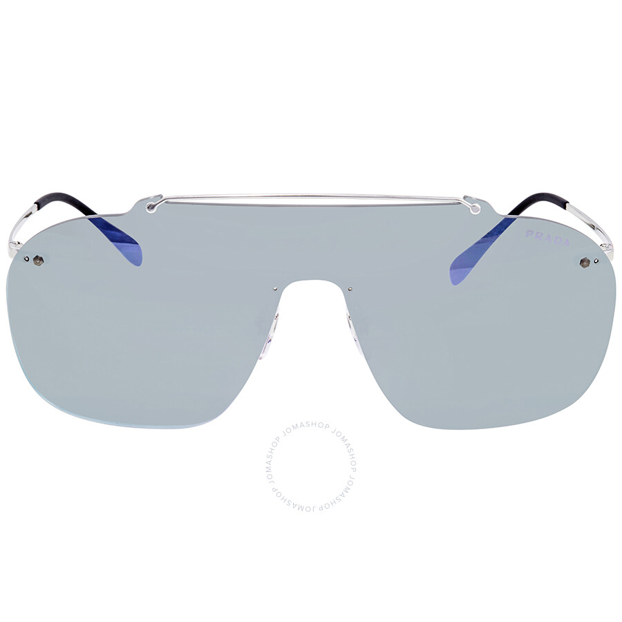 7d38a687782 Prada Grey Mirror Milky Blue Sunglasses PS 51TS 1BC129 37 - Prada ...
