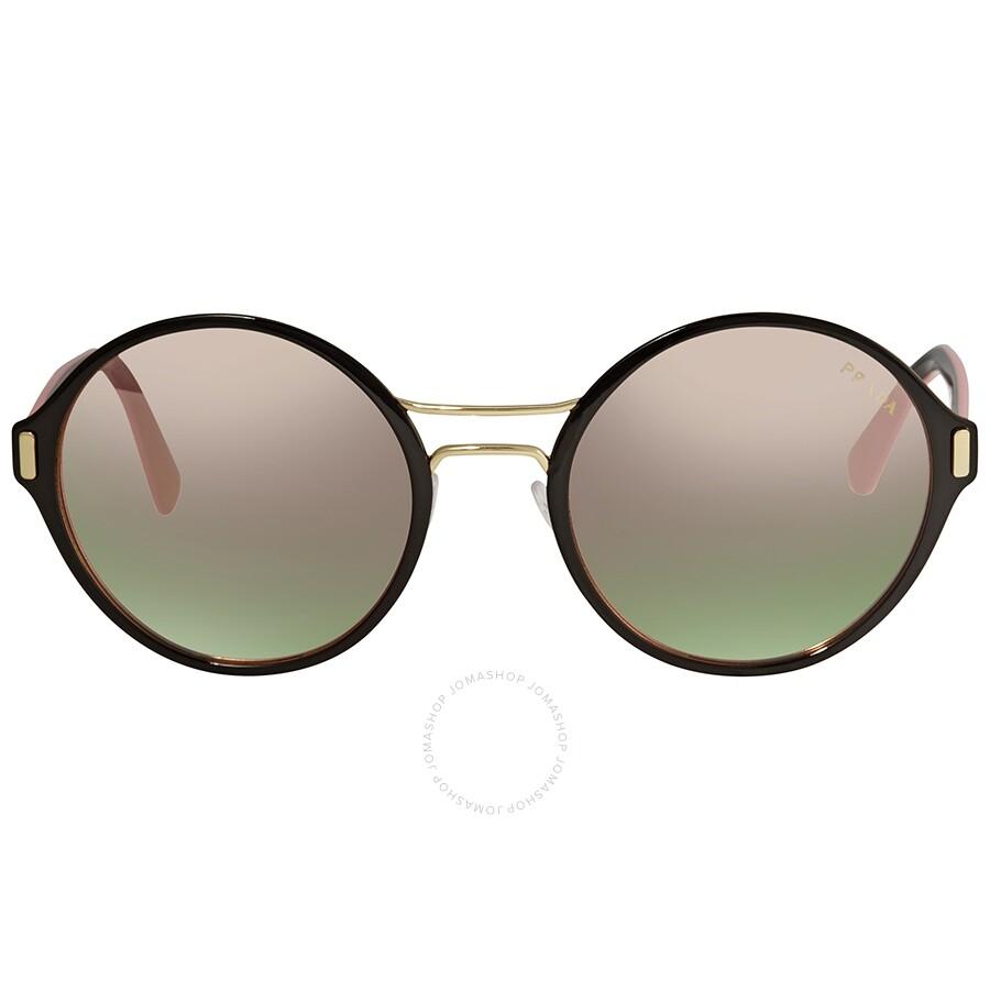 e6791d2b3a05 ... Prada Grey Mirror Rose Gold Round Ladies Sunglasses 57TS-AAV5L2-54 ...