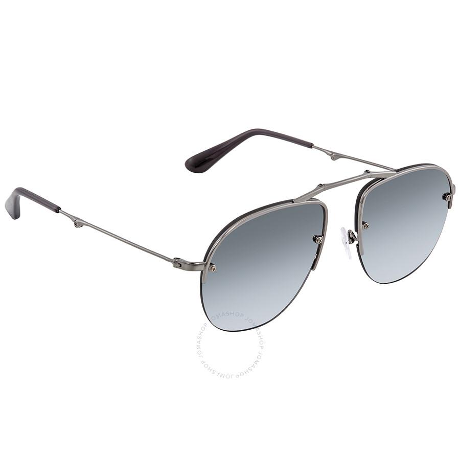 93d89dabbdb3 Prada Grey Mirror Silver Gradient Aviator Men's Sunglasses PR 54US 5AV205  ...