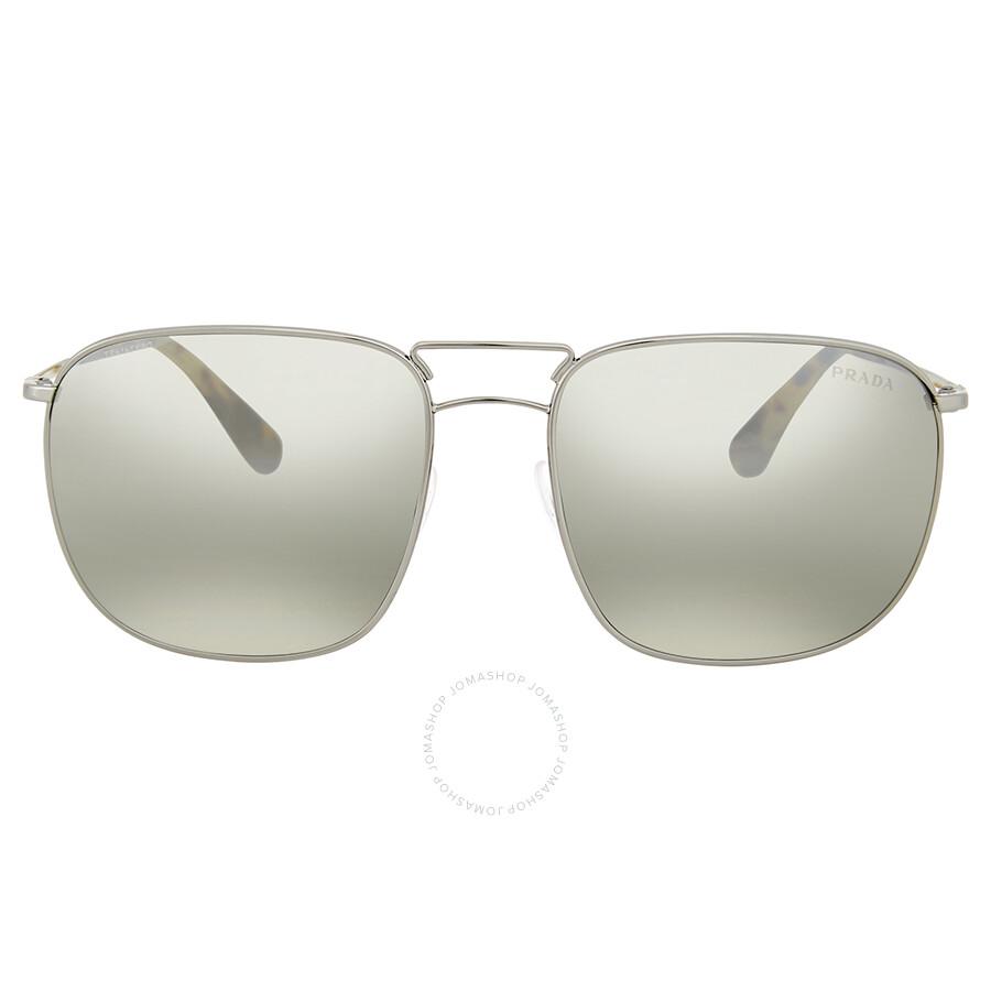 f2b7ec8fee Prada Grey Mirror Silver Sunglasses - Prada - Sunglasses - Jomashop