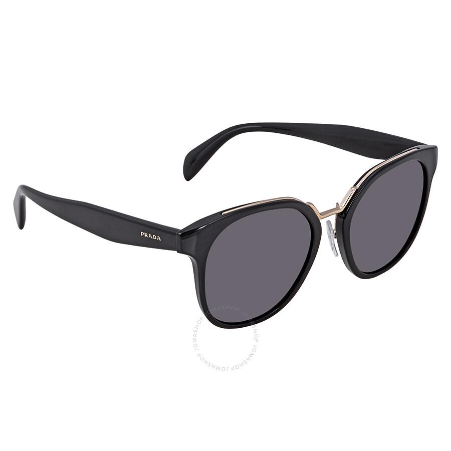 8ebd81d7f470 Prada Grey Round Ladies Sunglasses PR-17TS-1AB5S0-53 Item No. PR 17TS  1AB5S0 53