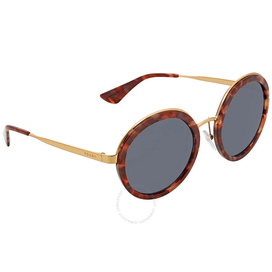 a40b5bd0cbea Prada Grey Round Ladies Sunglasses PR 50TS UE02K1 54 - Prada ...