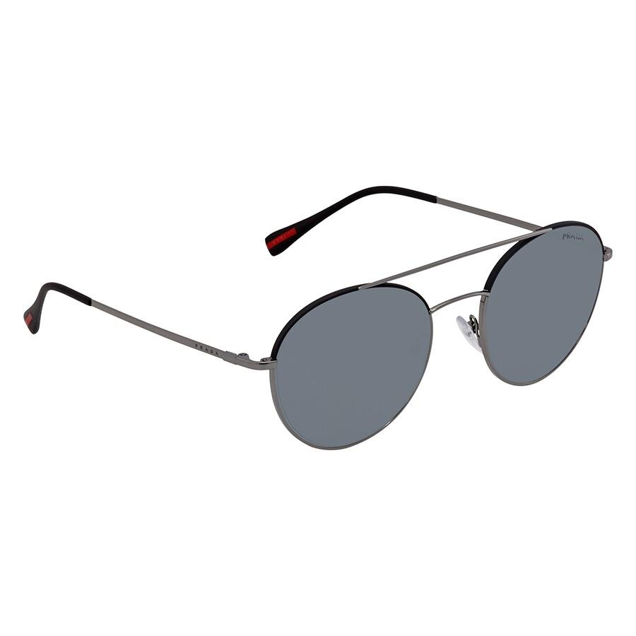 d1597e6f34d6 Prada Grey Round Men's Sunglasses PR PS51SS 290255 54 - Prada ...
