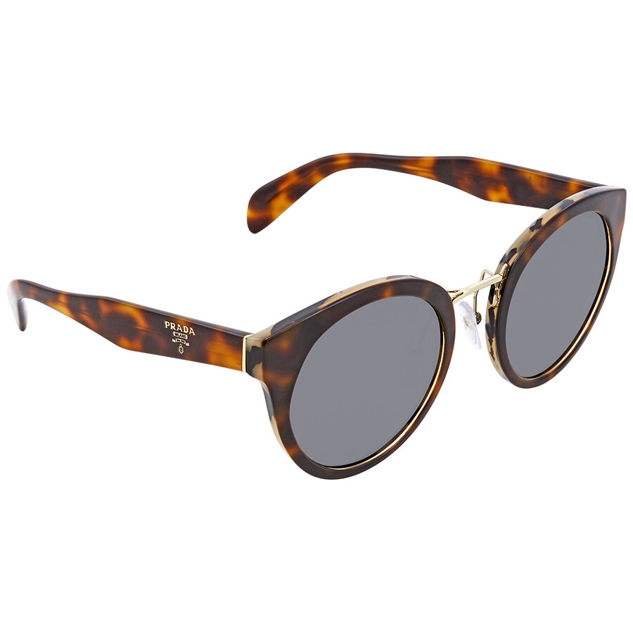 2b7429ae56c70 Prada Grey Round Sunglasses PR 05TS TH89K1 53 - Prada - Sunglasses ...