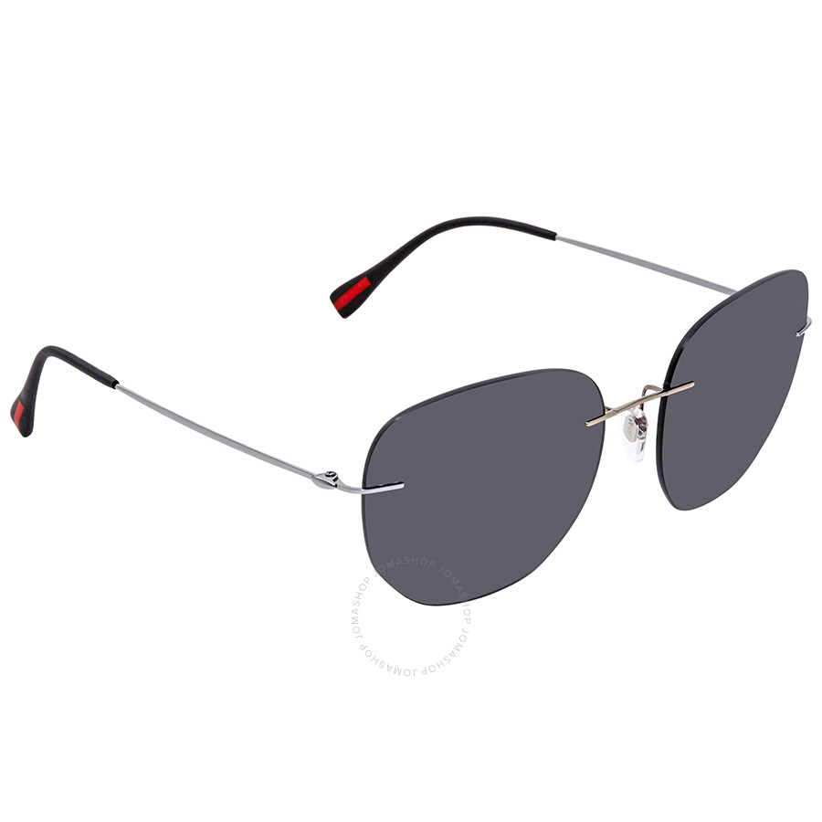 75fce0f9ddc5 ... clearance prada grey round sunglasses ps 50ts 5av5s0 57 7434c e9169  coupon ...