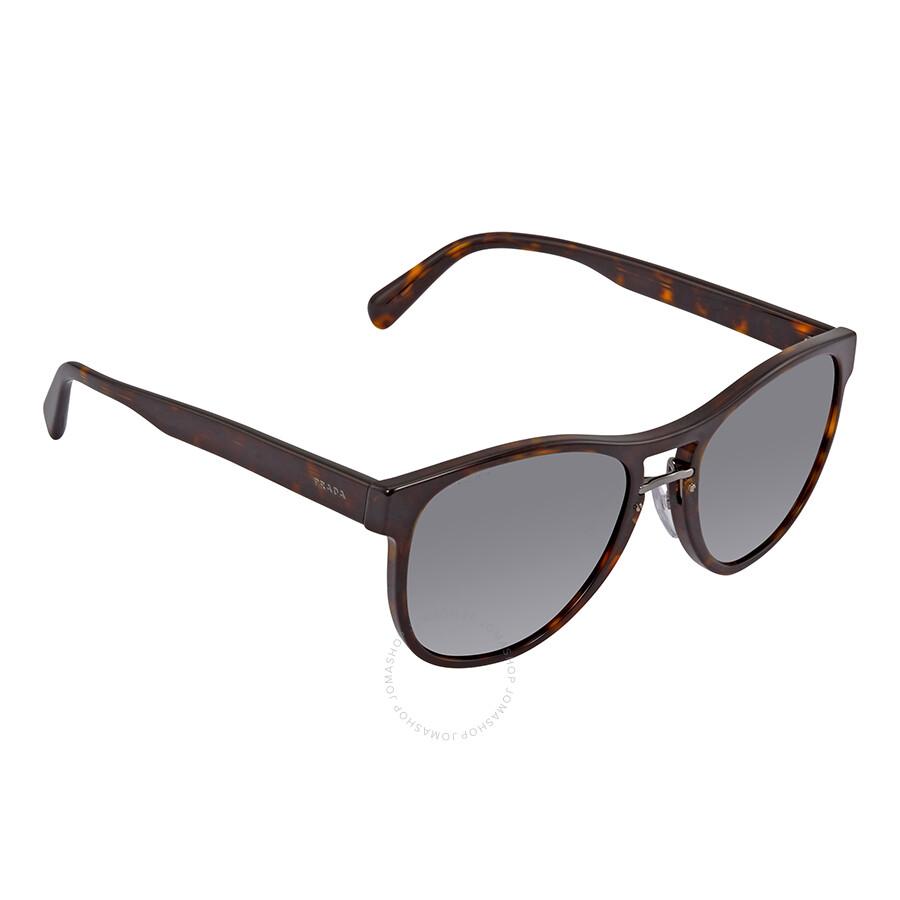 bb7bd1c6d5 Prada Grey Square Sunglasses PR 09US 2AU9K1 55 - Prada - Sunglasses ...