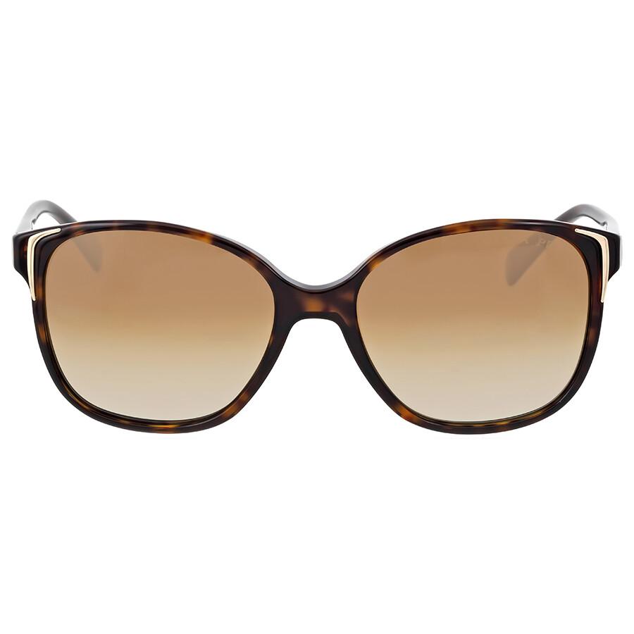cf94bd91cdbc0 Prada Havana Brown Plastic Sunglasses PR-01OS-2AU6E1-55 - Prada ...
