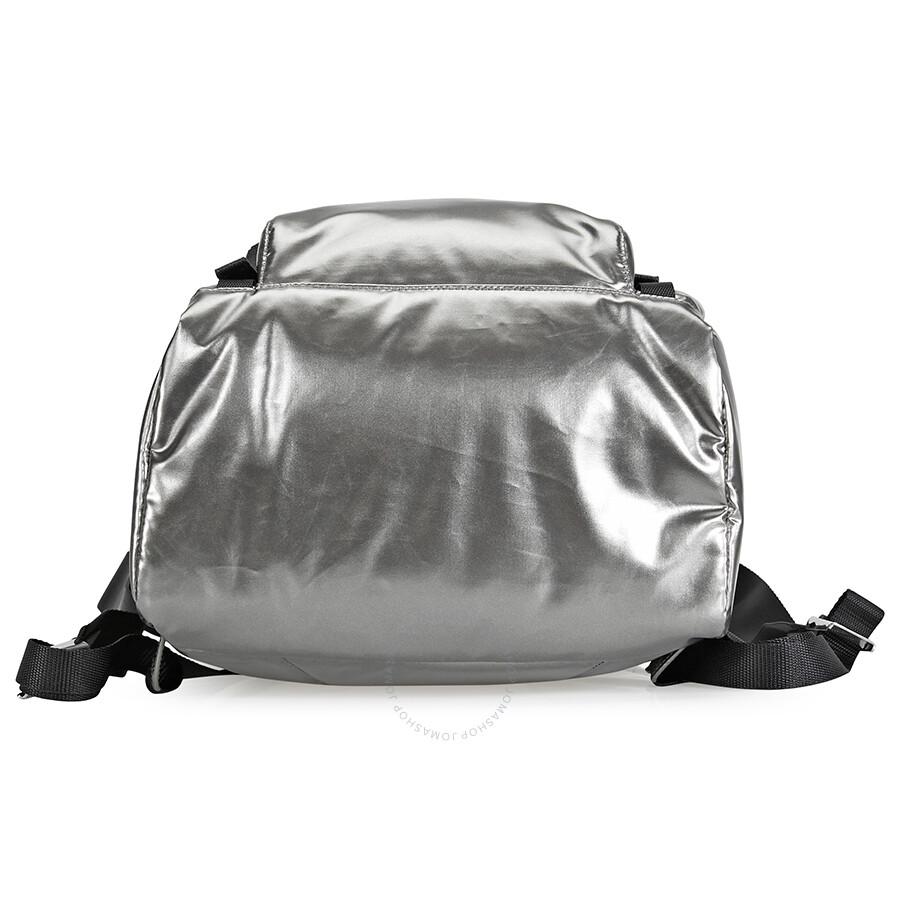 Prada Laminated Fabric Backpack- Iron Grey  Black - Prada - Handbags ... dca0eccd80